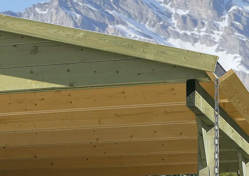 Karibu  Satteldach - Holz Einzelcarport Classic 1 - kesseldruckimprägniert