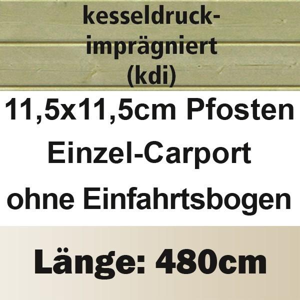 Karibu Holz Einzelcarport Premium 1 Variante A - Stahl Dach