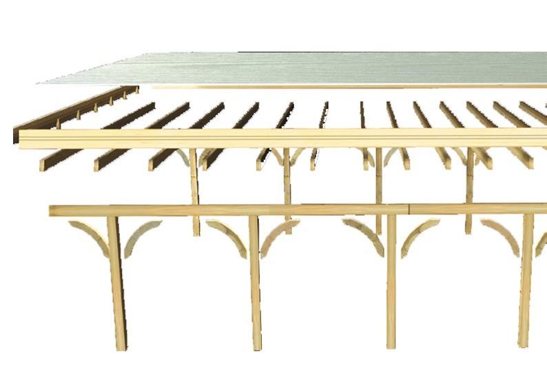 Karibu Holz Einzelcarport Premium 2 Variante A - Stahl Dach