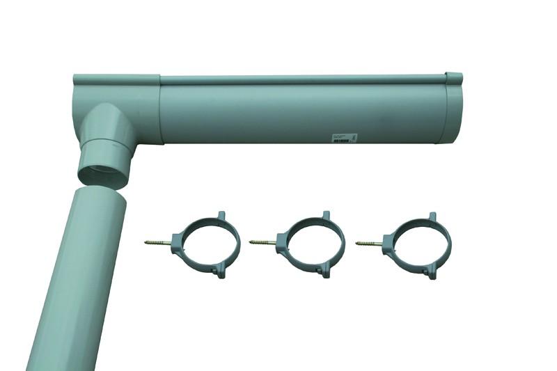 Karibu Dachrinnenpaket PVC - 3m