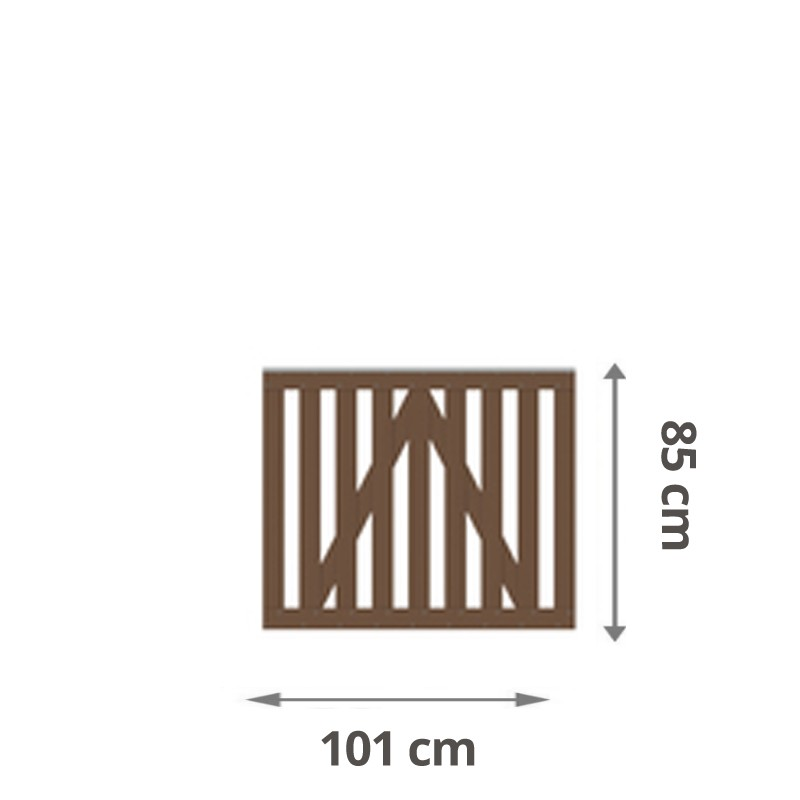 TraumGarten Gartentor Raja WPC braun 101,5 x 85 cm