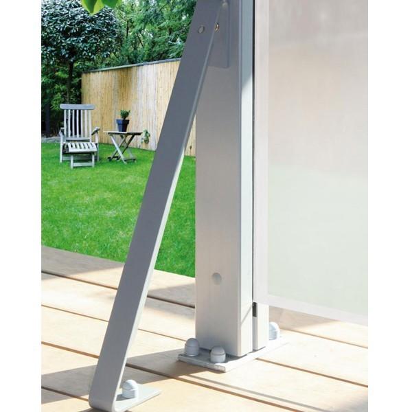 TraumGarten Wind-/ Sturmanker für System Anlagen silber - 4 x 25 x 49 cm