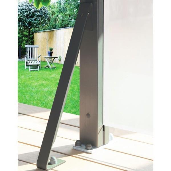 TraumGarten Wind-/ Sturmanker für System Anlagen anthrazit - 4 x 25 x 49 cm