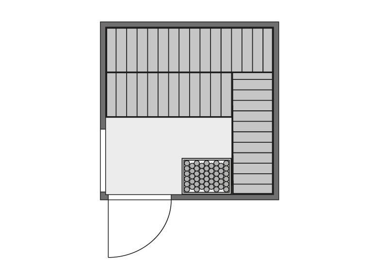 Karibu Heimsauna Helin (Fronteinstieg) Ofen 9 KW externe Strg easy Kein Kranz 68 mm Systemsauna