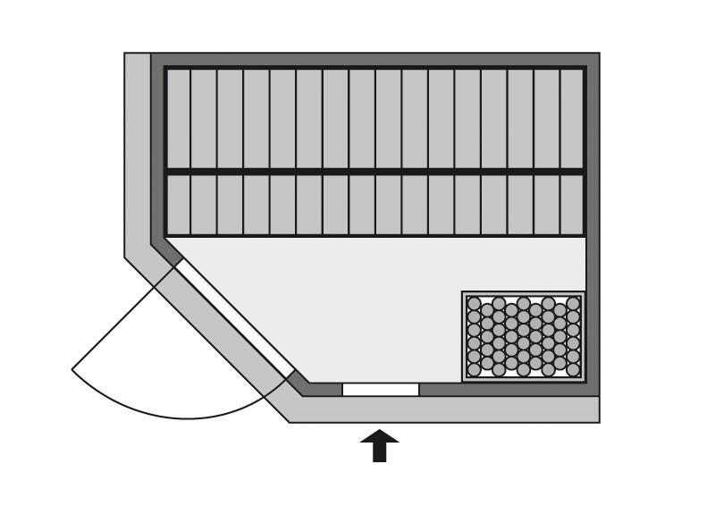 Karibu Heimsauna Lavea  (Rundeinstieg) Ofen 9 KW externe Strg easy Kein Kranz 68 mm Systemsauna
