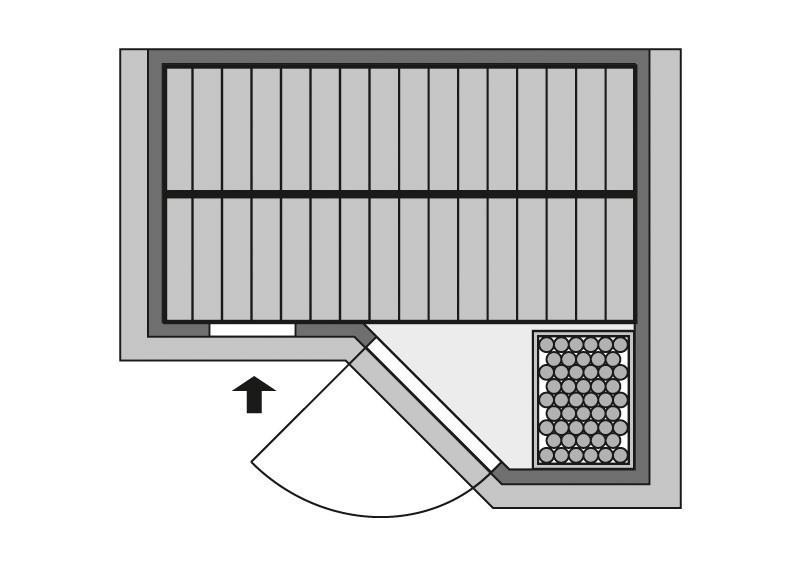Karibu Heimsauna Sahib 1 (Eckeinstieg) Ofen 9 KW externe Strg easy Kein Kranz 40 mm Massivholzsauna
