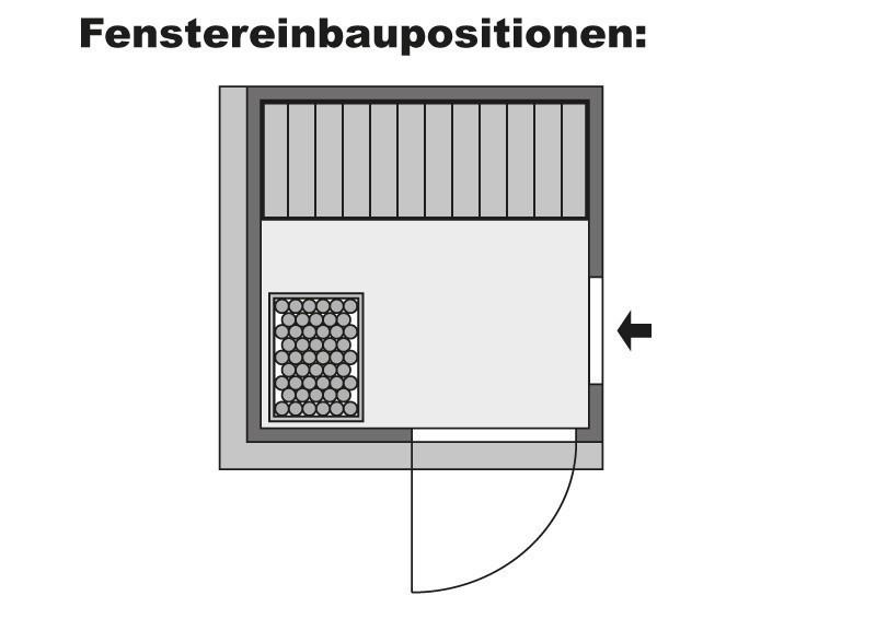 Karibu Heimsauna Lenja (Fronteinstieg) Ofen 3,6 kW intgr. Strg   mit Dachkranz Plug & Play 230Volt Sauna