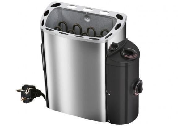 Karibu Heimsauna Daria (Fronteinstieg)   Ofen 3,6 kW intgr. Strg   210*184*202 cm Plug & Play 230Volt Sauna