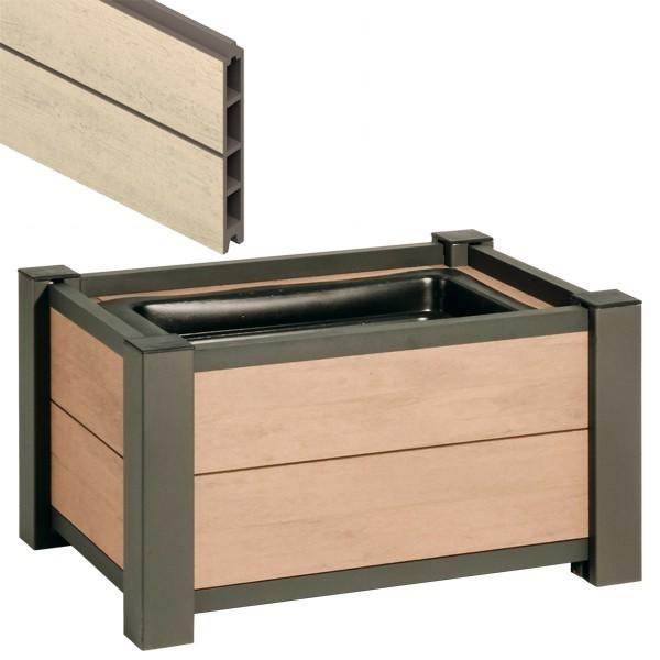 TraumGarten Pflanzkasten System WPC sand - 72 x 52 cm