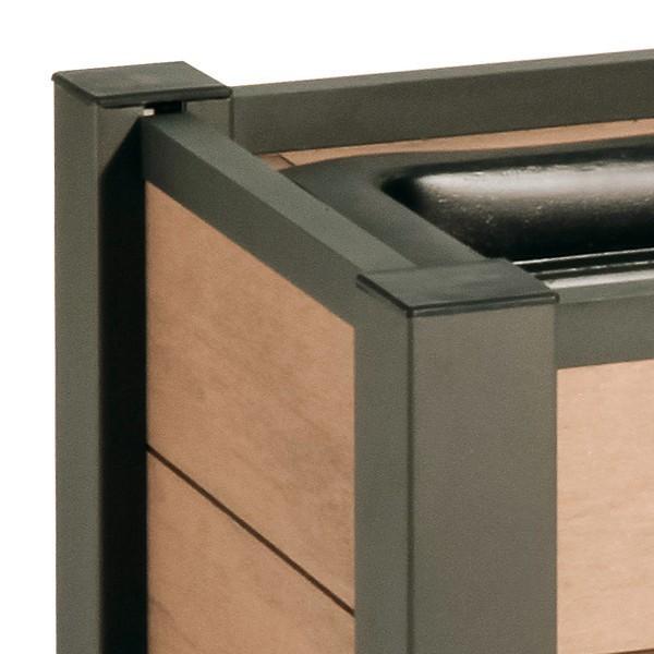 TraumGarten Pflanzkasten System WPC mandel - 129,5 x 52 cm