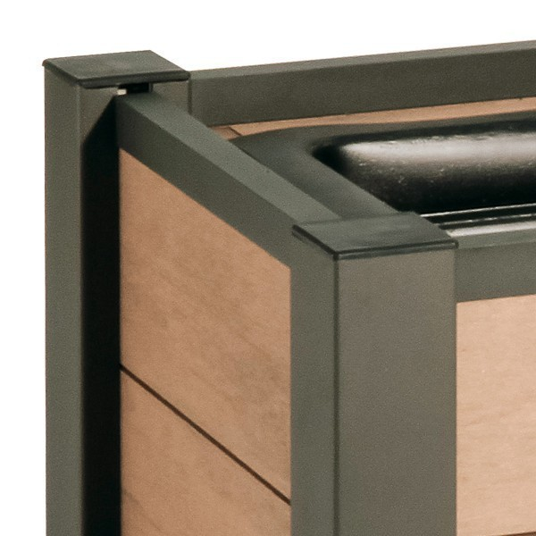 TraumGarten Pflanzkasten System WPC Set anthrazit - 129,5 x 52cm