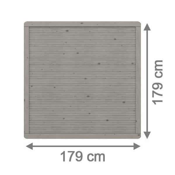 TraumGarten Sichtschutzzaun Nadelholz Arzago Rechteck grau lasiert - 179 x 179 cm