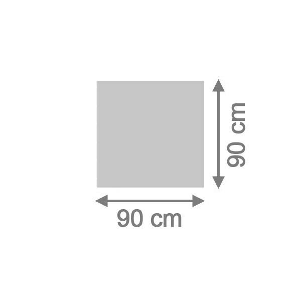 TraumGarten Sichtschutzzaun System Board Rechteck titangrau - 90 x 90 x 0,6 cm