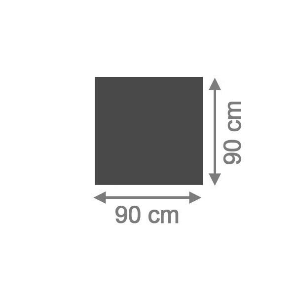 TraumGarten Sichtschutzzaun System Board Aluminium Rechteck schiefer - 90 x 90 x 0,6 cm