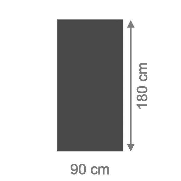 TraumGarten Sichtschutzzaun System Board Rechteck schiefer - 90 x 180 x 0,6 cm - schiefer