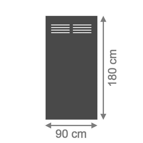 TraumGarten Sichtschutzzaun System Board Slot-Design Rechteck mit Gitter schiefer - 90 x 180 x 0,6 cm