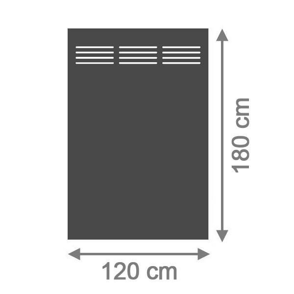 TraumGarten Sichtschutzzaun System Board Slot-Design Aluminium Rechteck mit Gitter schiefer - 120 x 180 x 0,6 cm