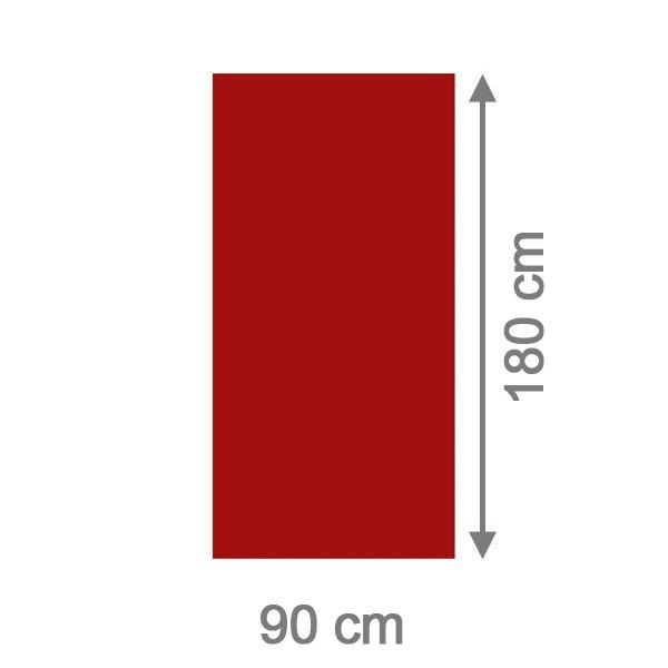 TraumGarten Sichtschutzzaun System Board Aluminium Rechteck rot - 90 x 180 x 0,6 cm