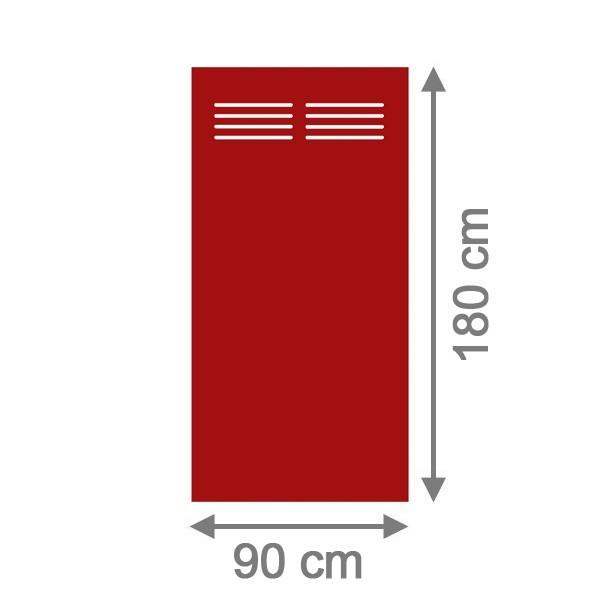TraumGarten Sichtschutzzaun System Board Slot-Design Aluminium Rechteck mit Gitter rot - 90 x 180 x 0,6 cm