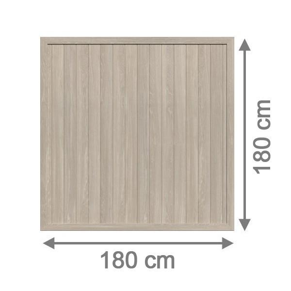 TraumGarten Sichtschutzzaun Kunststoff Longlife Riva Rechteck polareiche - 180 x 180 cm