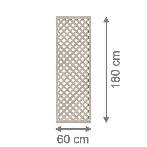 TraumGarten Rankgitter Kunststoff Longlife Rechteck polareiche - 60 x 180 cm