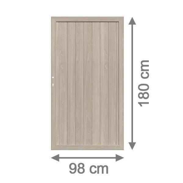TraumGarten Sichtschutzzaun Longlife Riva Tor polareiche - 98 x 164 cm