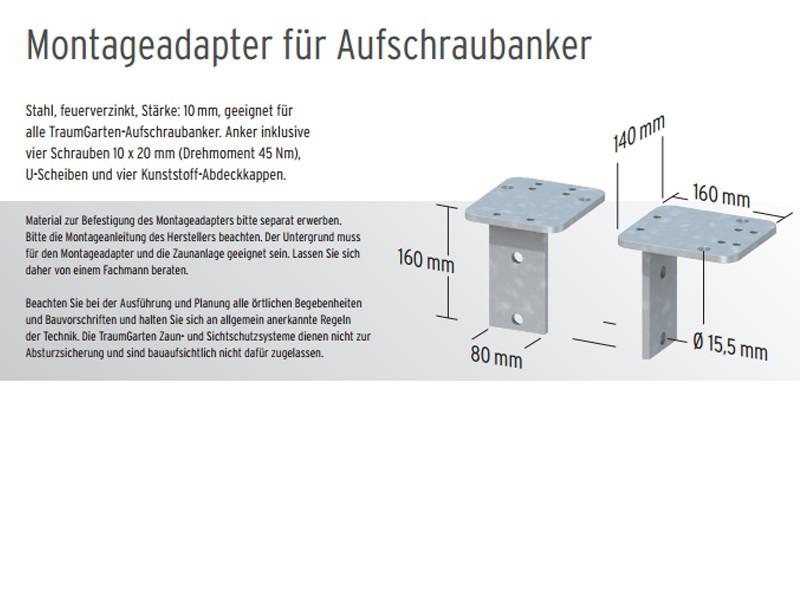 Brugmann Adapter L Stein Fur Aufschraubanker Set Feuerverzinkt 16