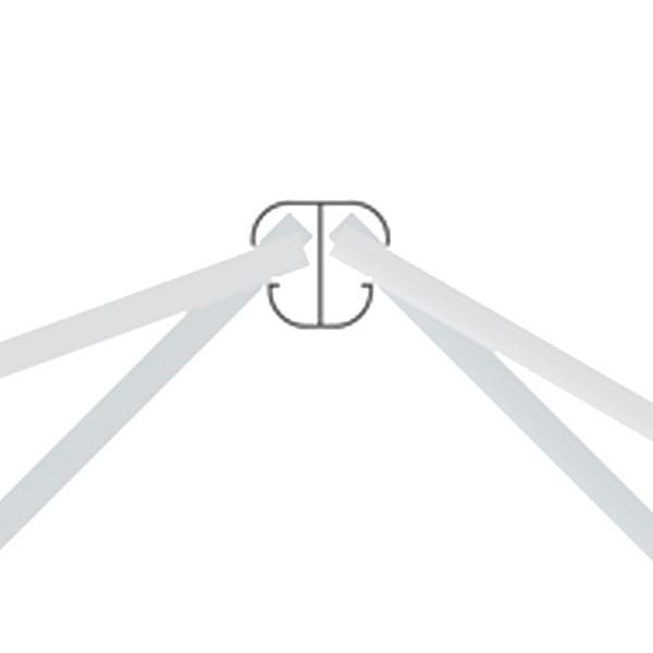 TraumGarten Zaunpfosten System Eck-Steckpfosten Set silber zum Aufschrauben - 7 x 7 x 105 cm