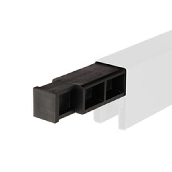 TraumGarten T-Verbinder für Adapter zur Senkrecht Montage von System Profilen schwarz - 0,35 x 1 x 2,7 cm