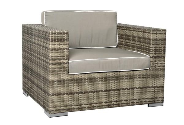 rattan xxl loungem bel espace sessel farbe grau braun. Black Bedroom Furniture Sets. Home Design Ideas