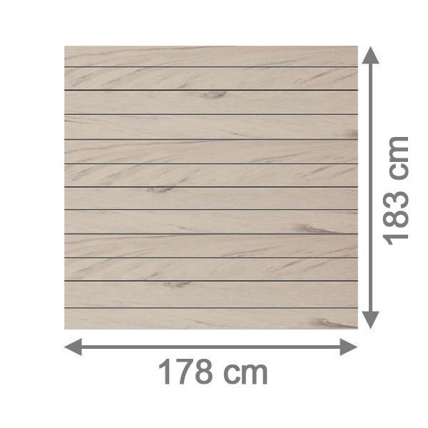 TraumGarten Sichtschutzzaun System WPC Set sand / silber - 178 x 183 cm