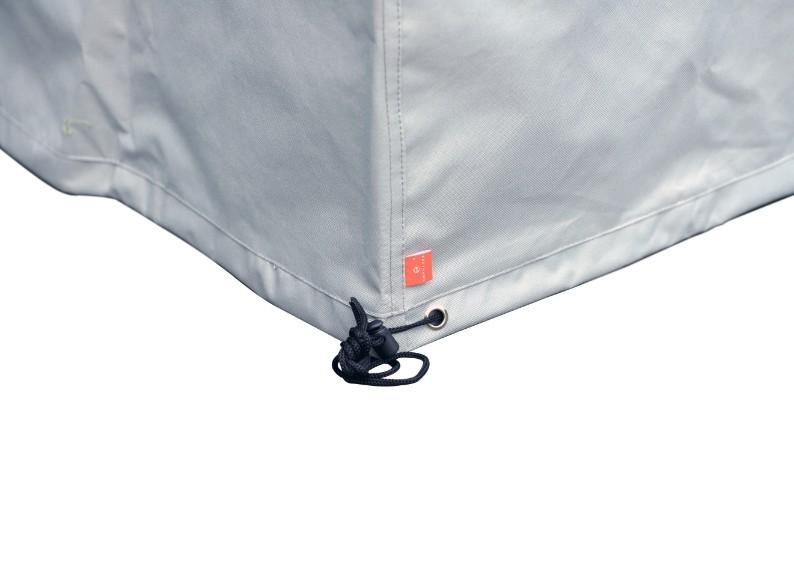 Schutzhülle für Tisch  66 x 66 x 43 cm (LxBxH) Farbe: grau