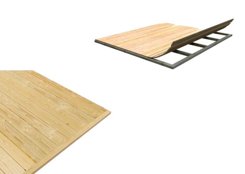 Karibu Fußboden für Sockelmaß 2,30 x 2,30 m - naturbelassen
