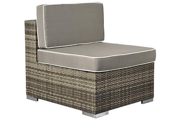 Rattan XXL Loungemöbel Set Espace 4 - 3-teilig - Farbe: grau braun meliert