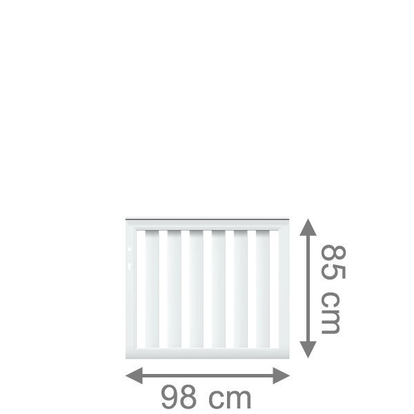 TraumGarten Gartentor Kunststoff Longlife Cleo DIN LI/RE weiß - 98 x 85 cm