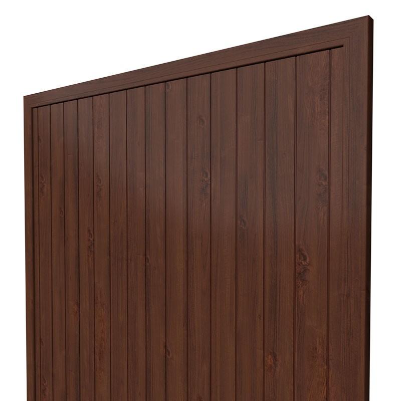 TraumGarten Sichtschutzzaun Kunststoff Longlife Riva Rechteck nussbaum - 180 x 180 cm