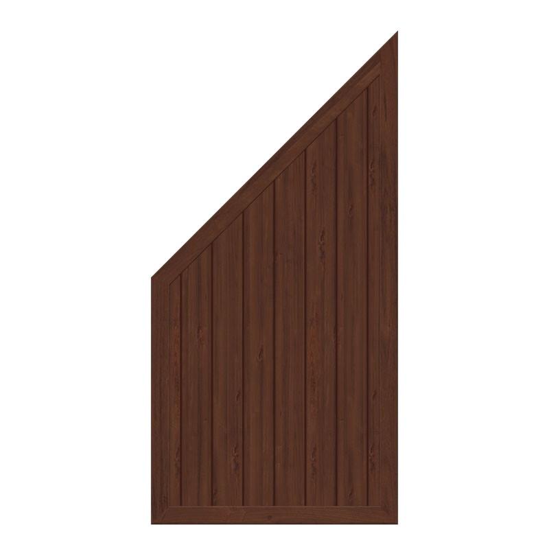 TraumGarten Sichtschutzzaun Kunststoff Longlife Riva Anschluss nussbaum - 90 x 180 auf 90 cm