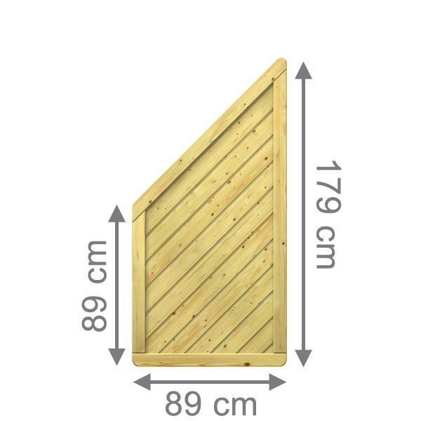 TraumGarten Sichtschutzzaun Holzzaun Gada Anschluss kdi - 89 x 179 auf 89 cm