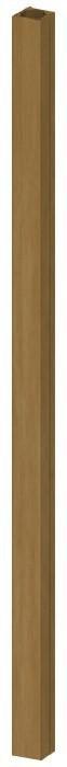TraumGarten Zaunpfosten Longlife braun 8 x 8 x 195 cm
