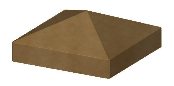 TraumGarten Pfostenkappe Longlife braun Pyramide - 8 x 8 cm