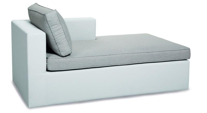 Best Sofa Chaise-Longue (Armlehne links) Kuba Ergotex, Farbe: weiß-natur