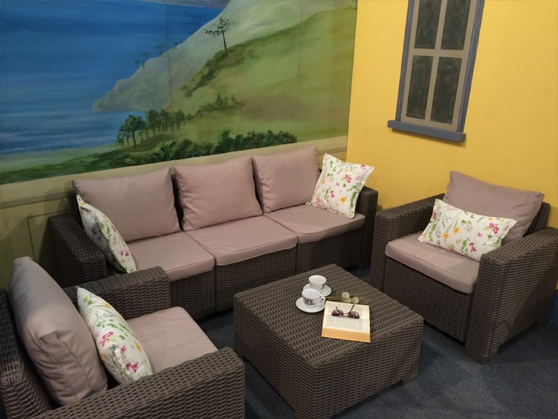 Best 4-tlg. Lounge Gruppe Mombasa, Farbe: cappuccino-sand