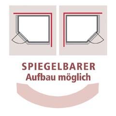 Karibu 68mm Systembausauna Jarin Eckeinstieg mit Graphit Tür - ohne Dachkranz