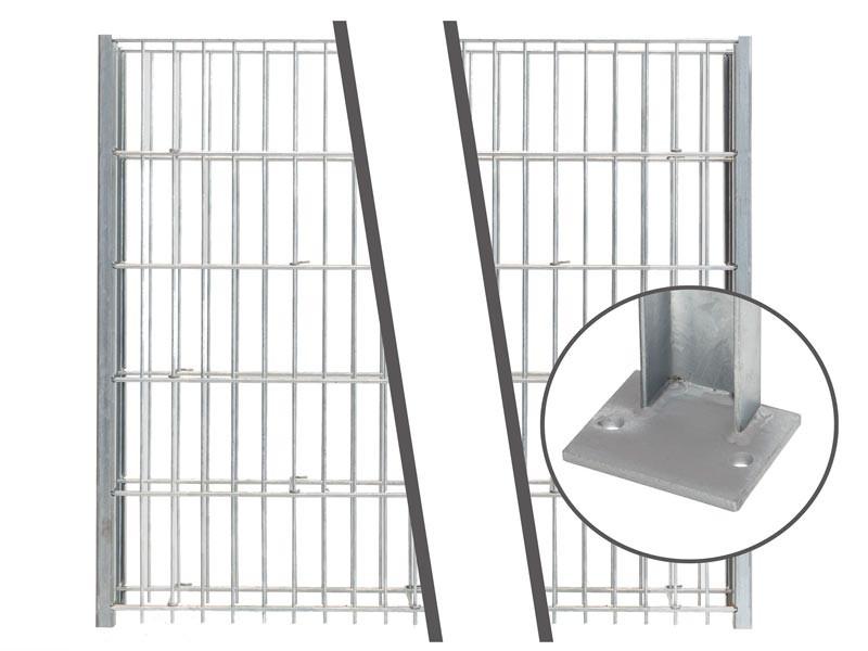 Gabionen Pfosten - Set SAPHIR / C - Profil - Zink - Pfostenhöhe: 1245 mm