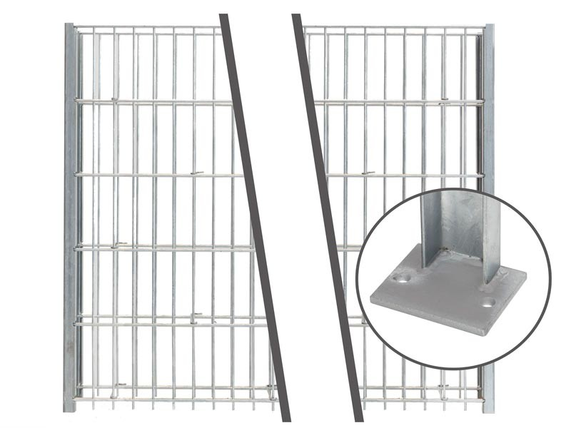 Gabionen Pfosten - Set SAPHIR / C - Profil - Zink - Pfostenhöhe: 1645mm
