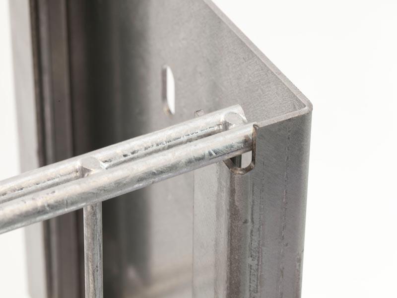 Gabionen Pfosten - Set SAPHIR / C - Profil - Zink - Pfostenhöhe: 2045mm