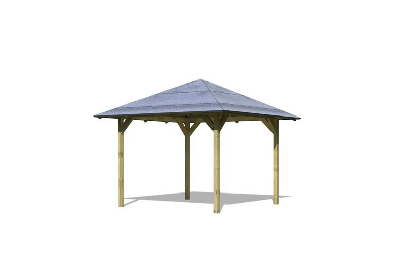 Karibu Holzpavillon Sevilla 4-Eck-Pavillon Eco - kdi
