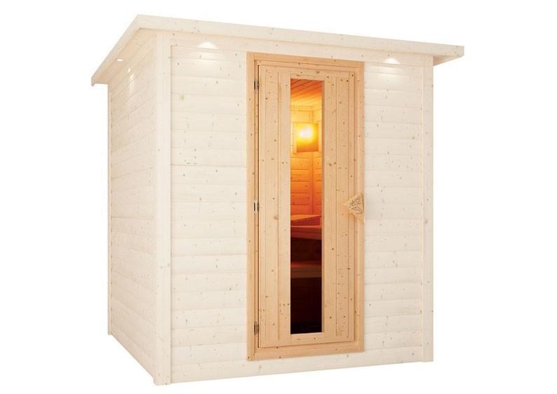 Karibu Sauna Türelement Energiespartür für Sauna Wandstärke 68 mm