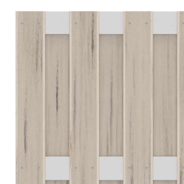 TraumGarten Sichtschutzzaun Jumbo WPC Aluminium-Design Rechteck sand 179 x 179 cm