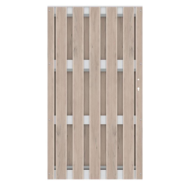 TraumGarten Gartentor Jumbo WPC Aluminium Design sand  98 x 179 cm